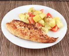 Whole30 Spiced Tilapia ~ 1 lb Tilapia 2 tsp garlic powder 2 tsp mustard powder 2 tsp onion powder 1/4-1/2 tsp salt 1/2 tsp black pepper 1/2 tsp cayenne Mix all the spices together and liberally sprinkle the seasoning on both sides of the Tilapia.  Over medium-high heat (with 1 Tbsp olive oil) sear the Tilapia for 3-5 minutes on each side or until cooked through.