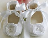 Christening Baby Shoes - 14 Colors Avail. - White Baby Shoes - Flower Girl - Wedding - Baby Souls Baby Shoes