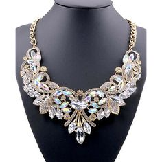 Blue Necklace, Necklace Types, Crystal Necklace, Crystal Rhinestone, Necklace Chain, Cheap Necklaces, Jewelry Necklaces, Jewelry Sets, Jewelry Party