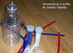 {Fireworks in a Bottle: A Simple Patriotic Craft for Preschoolers} #4thofJuly #CampSunnyPatch