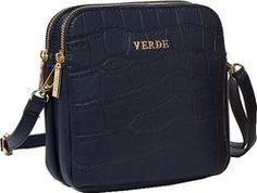 Τσάντα γυναικεία χιαστί Verde 16-4348-Μπλε