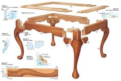 Queen Anne Footstool & Cabriole Leg - Woodworking Projects - American Woodworker: