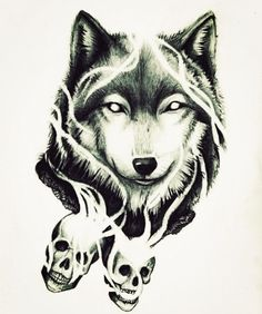 """This will have the quote """"there is no grief like the grief that does not speak."""" On the right side of the wolf (unofficial quote idea)"""