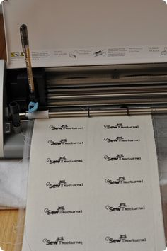 Cloth Labels with your Silhouette Machine