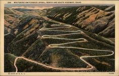 Whitebird Switchback Spiral Idaho... this is the old highway down Whitebird grade. Great ride on a motorcycle. Or my mustang!