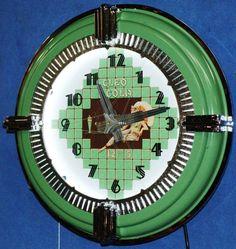 CLEO COLA NEON SPINNER CLOCK DECO ,