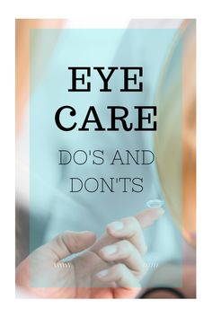 Proper contact lens care is easy, as long as you have the right info! Here are some dos and don'ts to help keep your contact lenses comfortable and your eye looking white and healthy.