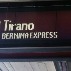 ALL ABOARD! #BerninaExpress #Switzerland #Italy #Tirano