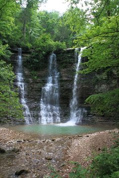 Triple Falls/Twin Falls at Camp Orr -- Hiking via the Buffalo River Trail, Arkansas