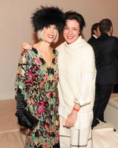 Linda Fargo and Garance Dore at Valentino Sala Bianca 945