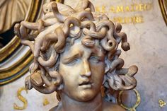 Photograph:A marble sculpture of Medusa, created by Gian Lorenzo Bernini in 1630, is in the Capitoline Museums in Rome, Italy.