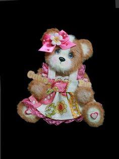 Sweet Little Cutie Girl Baby Tear Bear Paper Piecing Premade Scrapbook Page