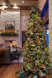 Hill Country Christmas - farmhouse - living room - austin - by Dawn Hearn Interior Design