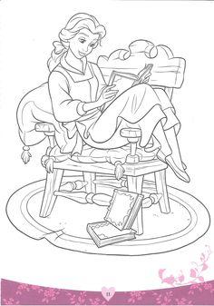 Disney Princess Adult Coloring Book New Beauty and the Beast Coloring Pages Disney Free Disney Coloring Pages, Detailed Coloring Pages, Disney Princess Coloring Pages, Disney Princess Colors, Pokemon Coloring Pages, Disney Colors, Colouring Pages, Coloring Pages For Kids, Coloring Books