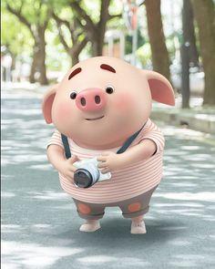 Pig Drawing, Pig Illustration, Pig Art, Cute Piggies, Small Baby, Little Pigs, Cute Cartoon Wallpapers, Anime Art Girl, Piggy Bank