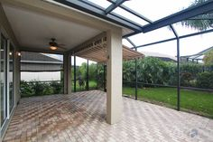 Screened / Covered Lanai Lanai Screened, Lanai Porch, Screened Porch Designs, Screen Enclosures, Patio Enclosures, Lanai Ideas, Pool Ideas, Venice Florida, Florida Home