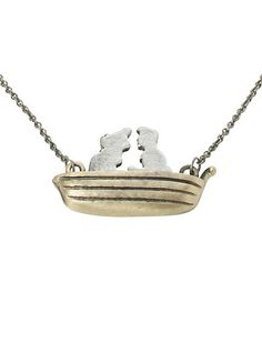 Disney The Little Mermaid Ariel & Eric Boat Necklace | Hot Topic