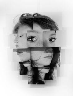 Photosculptures - Portrait Sculpture Photo Series by Brno Del Zou Face Collage, Collage Portrait, Collage Art, Collages, Collage Photo, Photography Collage, Creative Photography, Portrait Photography, Advanced Photography
