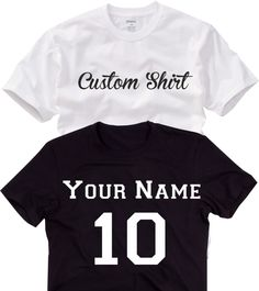 CUSTOM T-Shirt  Free Personalization Customization Tees T-Shirts Custom T Shirt With Your Choice of Wording Front or Back design your shirt (15.99 USD) by MAKARAPERSONEL