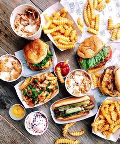 Burgers, hot dog and crinkle cut fries at Shake Shack in New York City. #regram from @gilliehouston cc @shakeshack @mark_rosati  Tag your pics with both #lefooding and @lefooding and we'll regram our favorites!