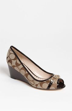 Oh how I love the Coach signature!  COACH 'Precious' Pump (Nordstrom Exclusive)   Nordstrom