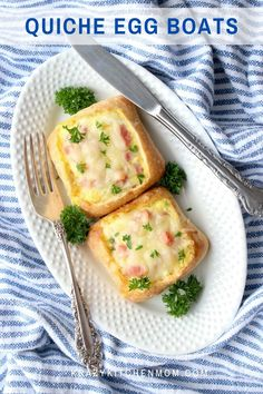 Extra fluffy quiche Lorraine baked in individual ciabatta rolls. Perfect for breakfast on-the-go, a light lunch, or a hearty snack. Brunch Recipes, Easy Recipes, Great Recipes, Breakfast Recipes, Easy Meals, Recipe Ideas, Breakfast On The Go, Easy Healthy Breakfast, Healthy Eating