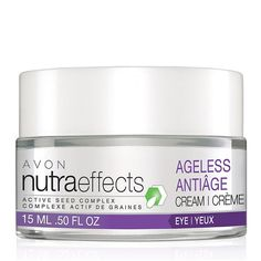 nutraeffects Ageless Eye Cream. Avon. NutraEffects Ageless Eye Cream is non-greasy and makes the eye area look and feel firmer and visibly fills in the appearance of lines and wrinkles. Regularly $18. Shop online with FREE shipping with any $40 online Avon purchase. www.youravon.com/debbieclem