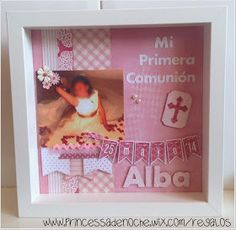 """PrincessaDeNoche: Novedad: Cuadros personalizados """"Mi Primera Comunión"""""""