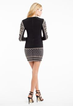 Jersey Long Sleeve Beaded Motif Dress #camillelavie