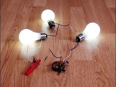 "Free Energy Magnet Motor fan used as Free Energy Generator ""Free Energy"" light bulb -"