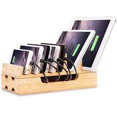 Charging Station, Levin Eco-Friendly Bamboo Charging Station Rack & Docking Organizer for Multiple Devices Such As Smartphones & Tablets – Get affordable prices for car supplies