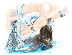 Ski Safari - S Magazine, Illustration by Graham Roumieu