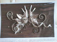 Quilling on wood