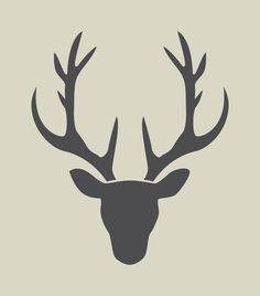 Oh Hirsch! Hirsch Silhouette, Deer Head Silhouette, Silhouette Portrait, Silhouette Design, Diy Natal, Deer Tattoo, Christmas Deer, Winter Christmas, Scroll Saw