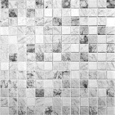Onix Essence Carrara Grey 1x1 Glass Mosaic Blend