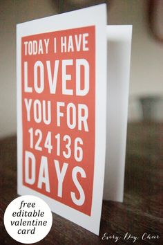Printable Valentine's Day Card - Every Day Cheer