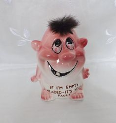 Vintage Novelty Coin Bank Funny Piggy Bank by LoganAvenueVintage, $16.00