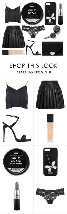 """Sans titre #6460"" by crazymoustik ❤ liked on Polyvore featuring Topshop, Alice + Olivia, Giuseppe Zanotti, Sisley, Henri Bendel, MAC Cosmetics, Victoria's Secret, Forum and MICHAEL Michael Kors"