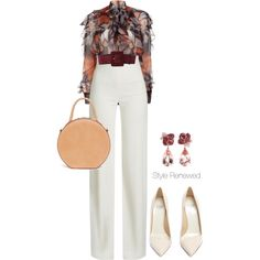 Untitled #464 by sherristylz on Polyvore featuring polyvore, fashion, style, Givenchy, Brandon Maxwell, Francesco Russo, Mansur Gavriel, Anyallerie, Yves Saint Laurent and clothing