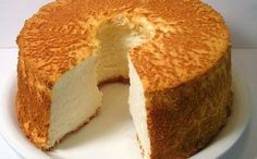 Pastel de ángel, ligero y libre de grasa - Cocina. Angel Cake, Angel Food Cake, Food Cakes, Cupcake Cakes, Cupcakes, Sweet Recipes, Cake Recipes, Dessert Recipes, Quinceanera Cakes