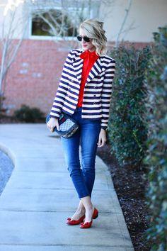 Belle de Couture: Cropped Denim + cabi Cruise Jacket #cabiClothing