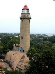 Mahabalipuram lighthouse in Madras, India