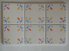 Happy Tiles Simple and colorful Kids love this in their bathroom