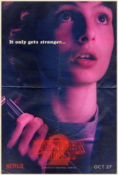 Foram divulgados 12 cartazes de personagens da segunda temporada de Stranger Things, que chega mundialmente à Netflixdia 27 de outubro (clique nas miniaturas para ampliá-las):