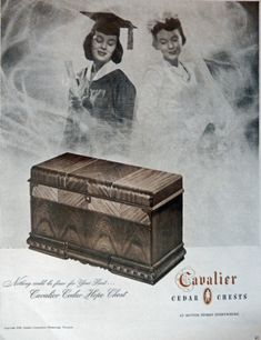 Cavalier Cedar Chests  40 s Print ad  Full Page Color Illustration  Hope Chest