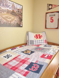 My Sons Baseball Bedroom