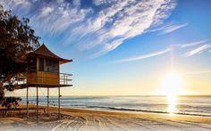 natureza, paisagens, árvores, mar, nuvens, areia, praia, nascer do sol