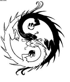 Chinese Dragon With Ying Yang Tattoo Design | Tattoobite.com