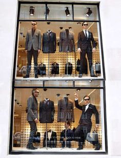 Shenani-mannequins in the Spencer Hart window
