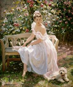 ~ Alexander Averin: In The Rose Garden
